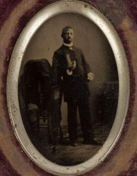 Attr. to J. P. Ball, Tin Type of African American Gentleman