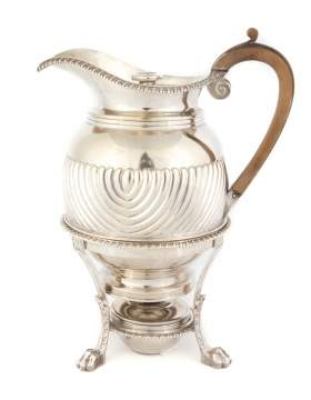 George III Silver Coffee and Stand