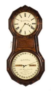 Seth Thomas Office Hanging Calendar Clock