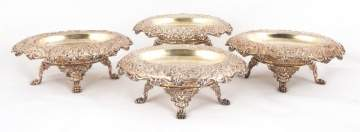 Four Tiffany & Co. Silver Footed Dishes