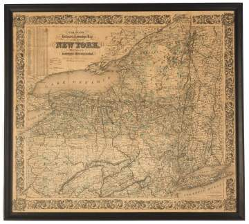Colton's Map of NYS Railroad and Township