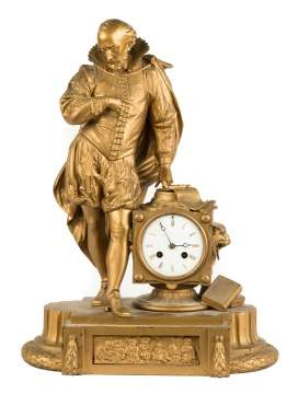French Figural Shelf Clock of Shakespeare