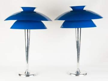 Pair of Aluminum Lamps