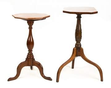 Two New England Candle Stands