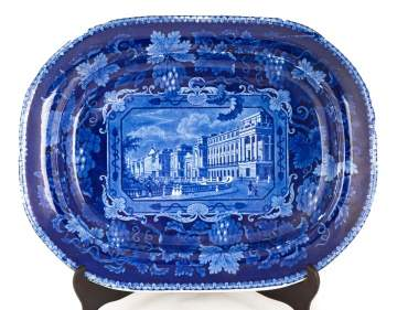 Historic Blue Staffordshire Platter