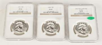 Three Graded Franklin Half Dollars