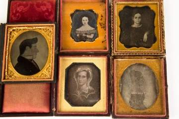Four Daguerreotypes and One Tin Type