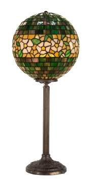 Leaded Glass Ball Lamp Attr. to Handel