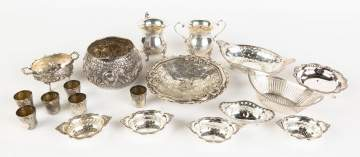 Group Silver and Sterling Silver Table Items