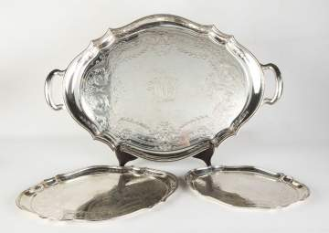 Three Tiffany & Co. Matching Sterling Trays