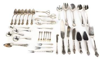 Group Sterling Flatware and Serving Pieces