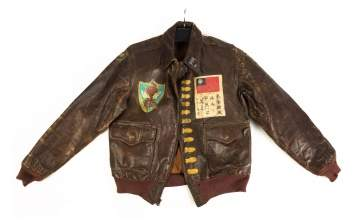 74th Bomber Squadron Painted A2 Flight Jacket