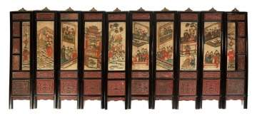 Chinese Panel Folding Screen