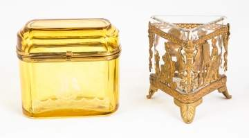 Steuben Dresser Box and Jar