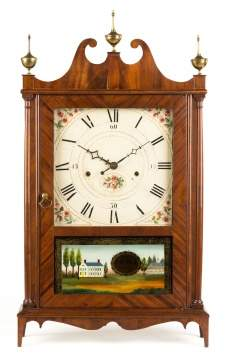 Rare Seth Thomas Off Center Pillar & Scroll Clock