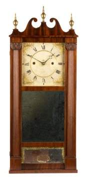 Rare Merriman, Birge & Co. Reeded Column Clock