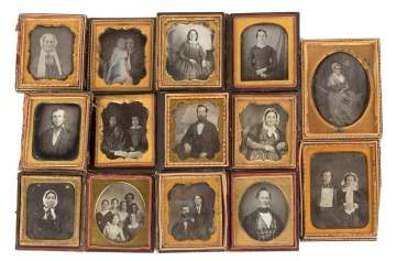 Group of 14 Various Daguerreotypes Portraits