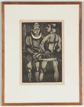 Two Georges Henri Rouault (French, 1871-1958)  Interlude from Le Cirque & Voltig from Le Cirque