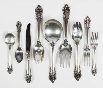 Wallace Grand Baroque Sterling Silver Flatware  Service for 12