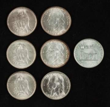 Group of American Commemorative Silver Half Dollar  Coins