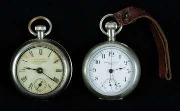 Antique New York Standard Watch Co. & G. A. Conant  Boston, Mass. Coin Silver Pocket Watches