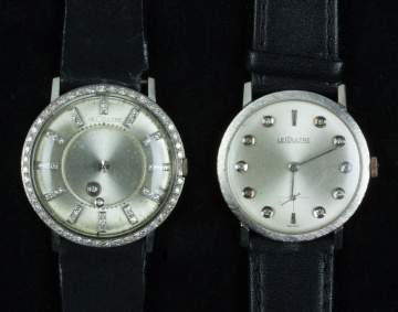 Two LeCoultre White Gold & Diamond Watches
