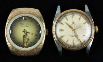 Rolex Two Tone & 14K Gold Lucien Piccard Wrist  Watch Faces