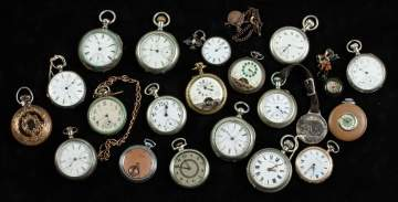 Group of Coin Silver Pocket Watches