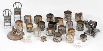 Group of Silver Plate Napkin Rings