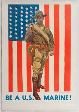 "James Montgomery Flagg (American, 1877-1960) ""Be a  U.S. Marine!"""