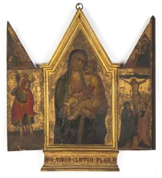 Early Russian Icon Triptych
