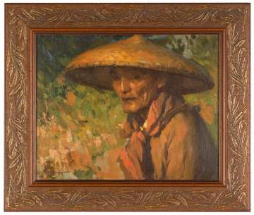 Fernando Cueto Amorsolo (Filipino, 1892-1972) Man with Hat