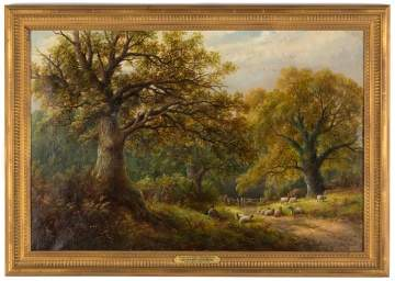 "George Turner (British, 1841-1910) ""Under the Oaks in Derbyshire"""