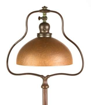 Handel Floor Lamp with Brown Chipped Ice Shade