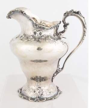 Dominick and Half Sterling Silver Water Pitcher