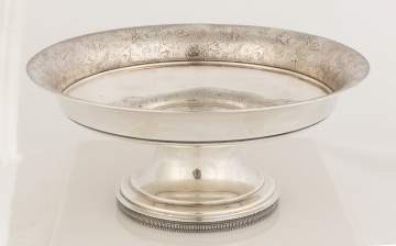Rare Tiffany & Co. Compote with Japanese Motif