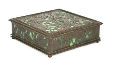 Tiffany Studios, New York, Grapevine Covered Box