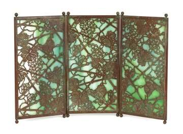 Tiffany Studios, New York, Grapevine Screen