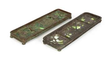 Tiffany Studios, New York, Grapevine Pen Trays
