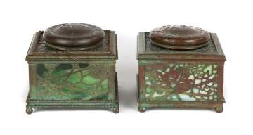 Tiffany Studios, New York, Grapevine Inkwells