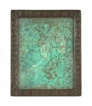 Tiffany Studios, New York, Zodiac Patterned Picture Frame