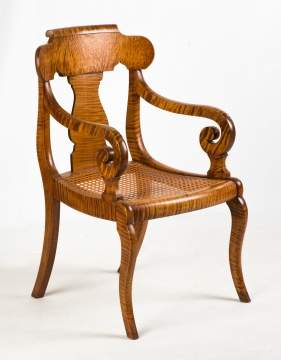 American Classical Tiger Maple Arm Chair