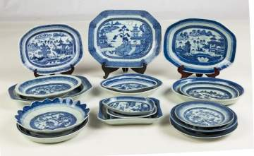 Group of Chinese Export Canton Various Platters and Dishes