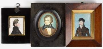 Three Miniature Portraits of Gentlemen