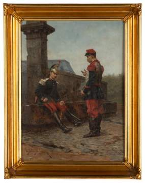 Étienne-Prosper Berne-Bellecour (French 1938-1910) Painting of Soldiers