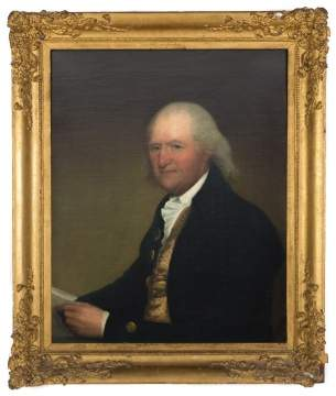 "Attributed to Gilbert Stuart (American, 1755-1828) Winthrop Astor Chanler's ""Portrait of Petrus Stuyvesant"""