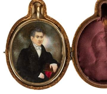 Early 19th Century Miniature Portrait of a Gentleman
