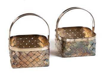 Cartier Sterling Silver Baskets