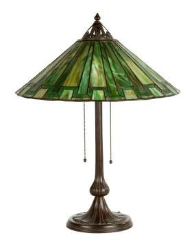 Handel Arts & Crafts Leaded Glass Lamp