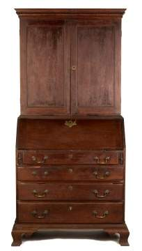 New England Chippendale Secretary Desk
